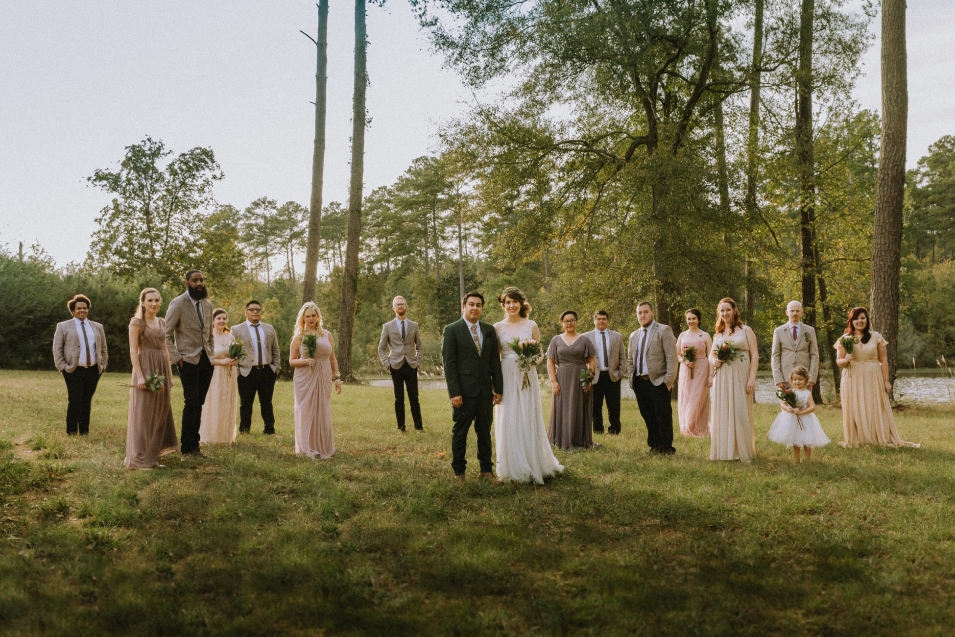 Rasberry Green wedding party in Soso, Mississippi