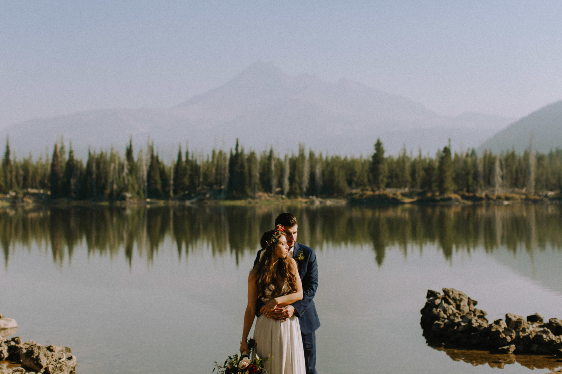 Elopement at Spark Lake in Bend, Oregon